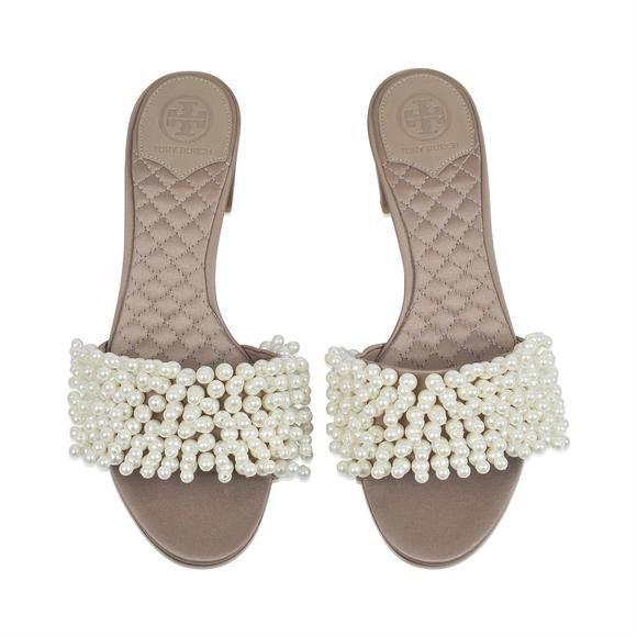 Tory Burch TATIANA PEARL 穆勒鞋  +SAINT LAURENT Betty 太阳镜