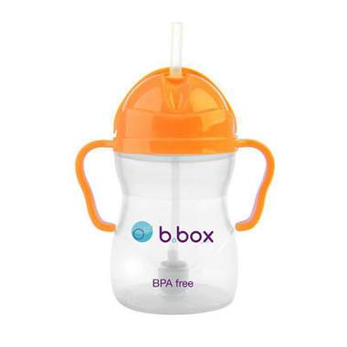 【澳洲PO药房】B.box 婴幼儿重力球吸管杯 防漏 240ml 橙色