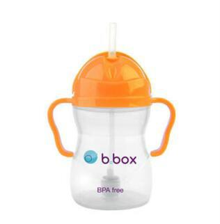 【澳洲CD药房】B.box 婴幼儿重力球吸管杯 防漏 240ml 橙色 (6个月以上)