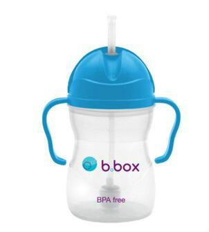 【澳洲CD药房】B.box 婴幼儿重力球吸管杯 防漏 240ml 蓝色