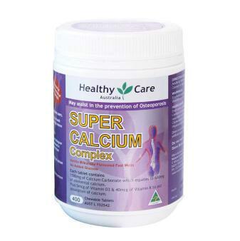 【澳洲CD药房】Healthy Care 超级钙+维生素D复合咀嚼片 400粒