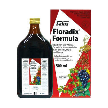 【澳洲PO云顶集团药房】Floradix 纯天然草本萃取铁元素液 500ml