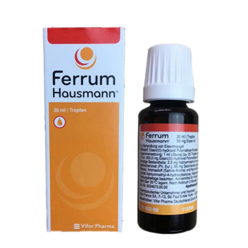 【德国BA】Ferrum Hausmann 早产儿婴幼儿童孕妇 补铁滴剂 30ml