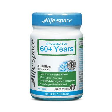 【澳洲PO药房】Life Space 老年人益生菌 调节肠胃增强免疫力 60粒