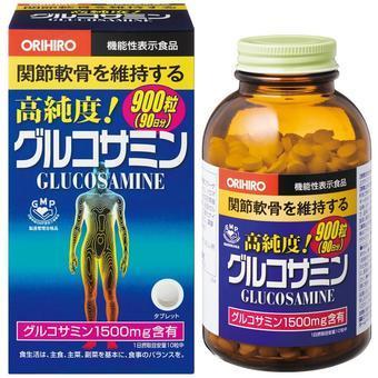 【多庆屋】Orihiro 高纯度葡糖胺关节软骨素胺片900粒 3456 日元 约¥208