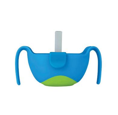 【澳洲Amcal】【超值特价】B.box 三合一双手柄吸管碗 便携/密封 海水蓝