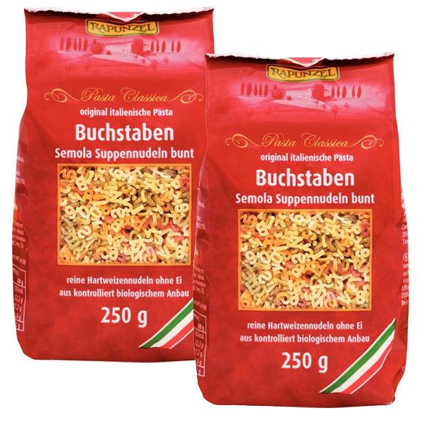 【德国BA】Rapunzel 长发公主 有机蔬菜汁彩色字母面/意大利面 250g 两袋组合装