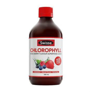 【澳洲CD药房】Swisse 排毒养颜液体叶绿素 梅子味 500ml
