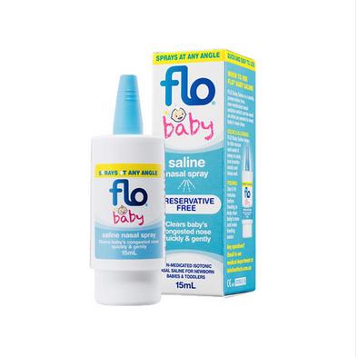 【澳洲Amcal】FLO Baby Saline+滴鼻喷雾液 15ml