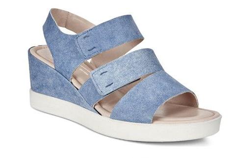 ECCO爱步2018新款女鞋发售 ECCO TRUE INDIGO牛仔蓝染皮革系列