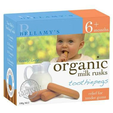 【澳洲PO药房】Bellamy&#039s 贝拉米 婴幼儿有机无糖磨牙饼干 100g