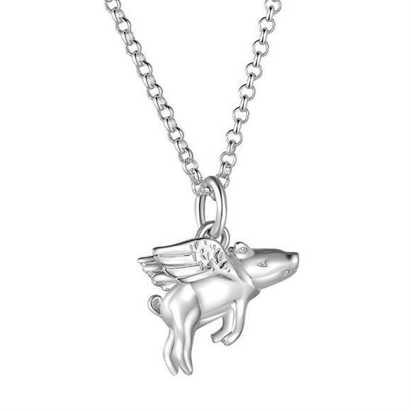 【Bonpont】【包邮装】Lily charmed 飞天小猪925纯银项链 1条