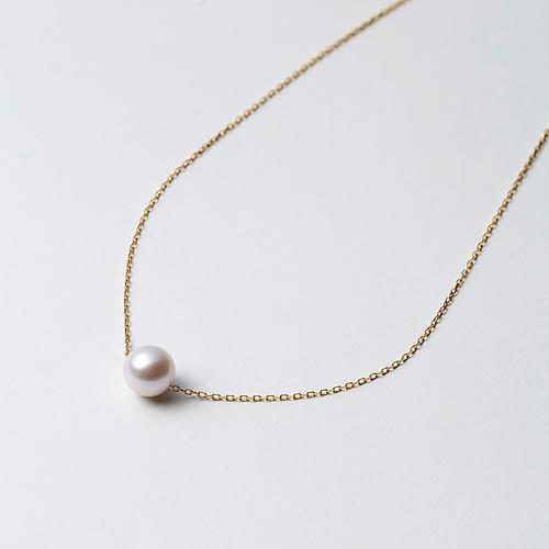 【松屋百货】【母亲节专场满8000日元减800】Maria 8mm阿古屋海水珍珠K18金链 一颗珠 1050px