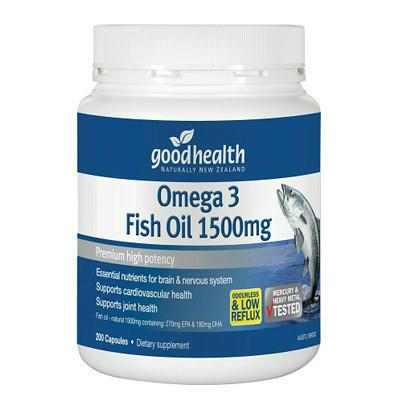 【新西兰PD】 【三件包邮】 Good Health 好健康 1500mg深海鱼油胶囊 200粒