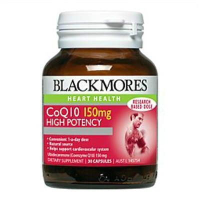 【新西兰PD】【三件包邮】Blackmores 澳佳宝 辅酶Q10保护心血管营养素胶囊 150mg 30粒