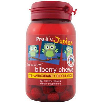 【新西兰PD】【五件用码包邮】prolife 儿童蓝莓越橘护眼咀嚼片 60片