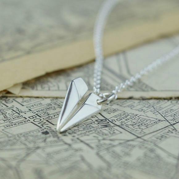 【bonpont】【包邮装】Lily charmed 银色纸飞机项链 1条