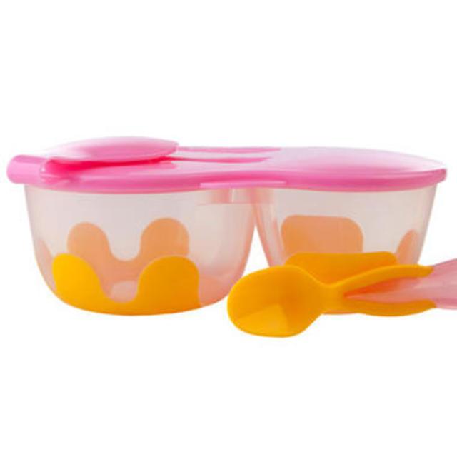 【澳洲Amcal】【超值特价】B.box snack pack 便携带勺餐盒(粉橙色)