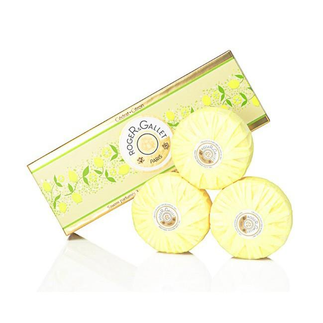 Roger &amp Gallet 香邂格蕾 柠檬枸橼圆形香皂礼盒(三枚装)