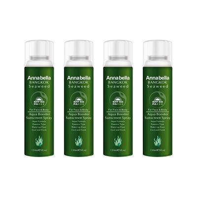 【海豚村】【4件包邮装】Annabella 安娜贝拉 海藻水晶防晒喷雾150ml/瓶x4