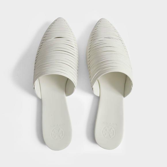Tory Burch Max mbroidered 皮质平底穆勒鞋 +Manu Atelier 小牛皮Zelda包