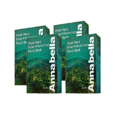【海豚村】Annabella安娜贝拉 深海矿物补水保湿收缩毛孔海藻面膜 10片/盒x4