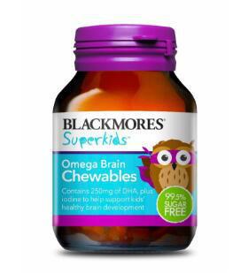 【澳洲CD药房】Blackmores Superkids 儿童Omega聪明鱼油咀嚼片 50片