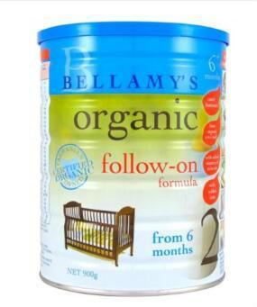 【澳洲CD药房】Bellamy&#039s 贝拉米 有机婴幼儿奶粉 2段 6-12个月 900g