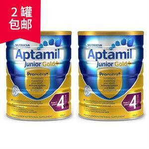 【2罐包邮装】Aptamil 爱他美 金装4段婴幼儿奶粉 900g X2