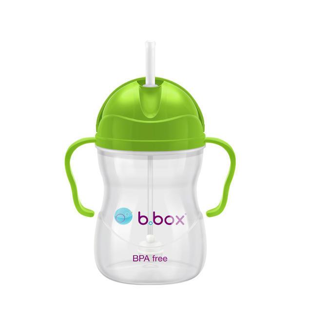 【澳洲Amcal】【经典款】B.box 婴幼儿重力球吸管杯 防漏 240ml 苹果青 (6个月以上)