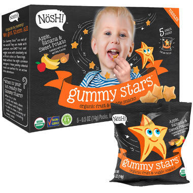 【美国Babyhaven】【满59美元减5美元】Nosh婴幼儿零食 苹果香蕉甜薯味 - 5 包