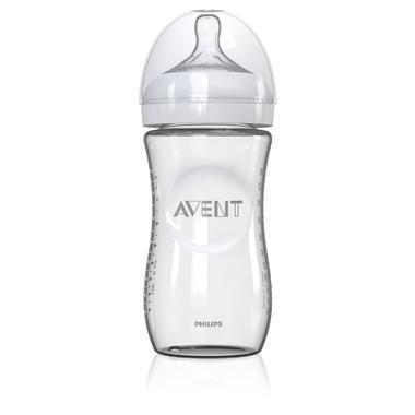 【满59美元减5美元】Philips Avent 飞利浦新安怡 宽口径自然玻璃奶瓶 240ml