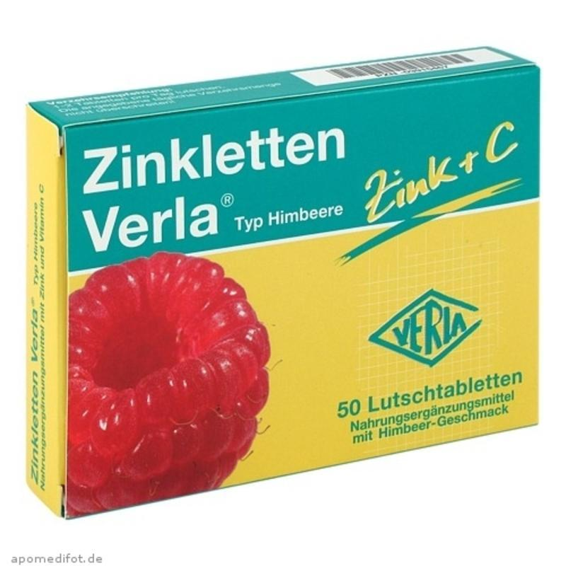 【德国BA】Zinkletten Verla 儿童/孕妇补锌+覆盆子维C含片50片 改善厌食 提高免疫力