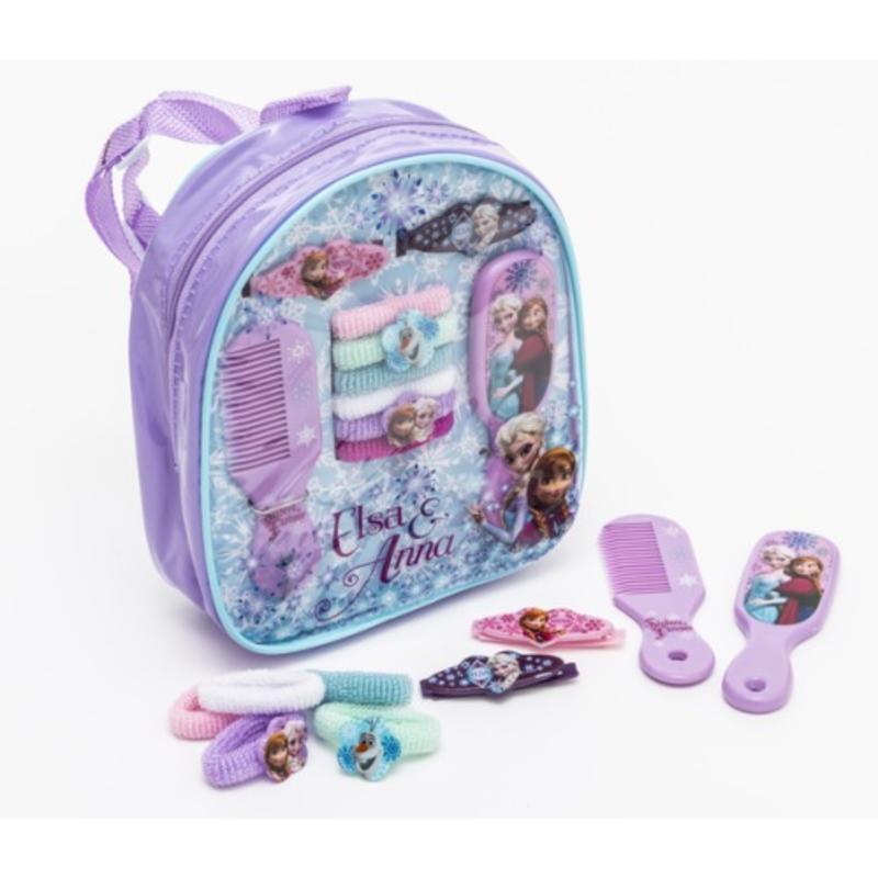 【德国BA】Disney Frozen 迪士尼 冰雪奇缘主题女孩紫色发饰梳妆背包 梳子/发带/发夹 1套