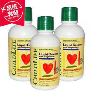 【超值包邮套装】Childlife 童年时光 液体钙镁锌成长营养液 474ml X3