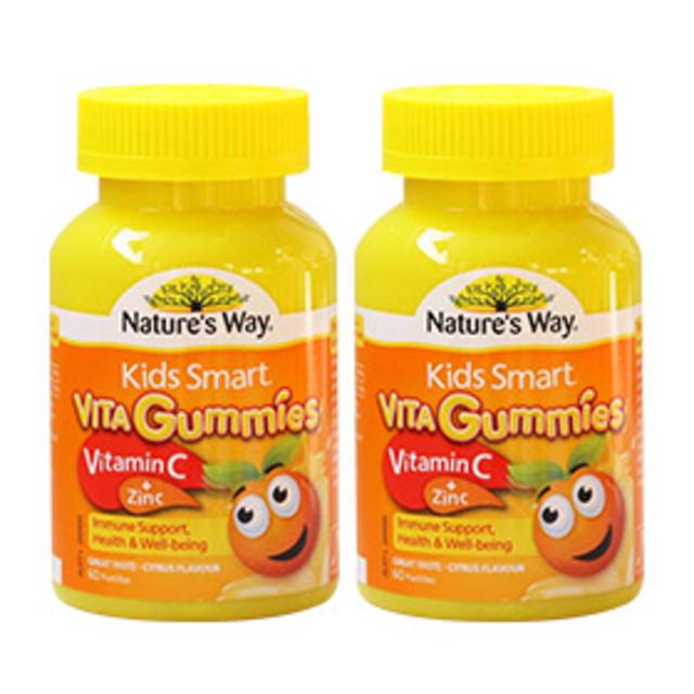 【澳洲Amcal】【组合装】Nature&#039s Way 佳思敏 Kids Smart儿童维生素C+锌软糖 60粒2