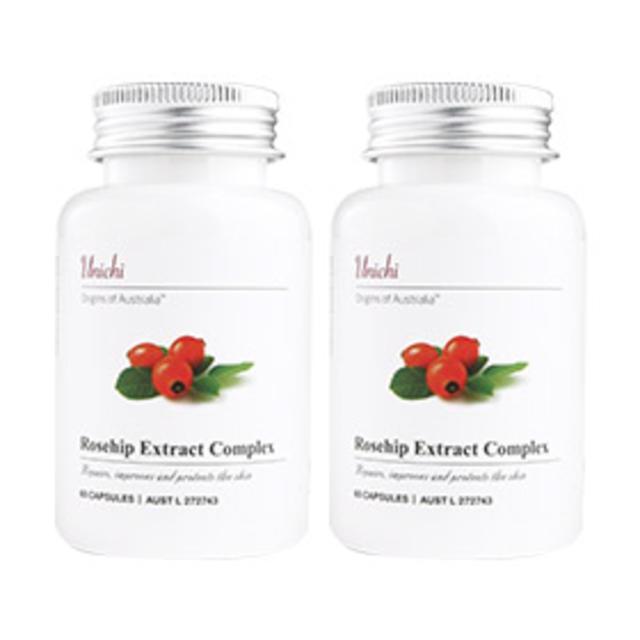 【澳洲Amcal】【组合装】Unichi 玫瑰果精华胶囊 60粒 美白/修复/抗黑色素2