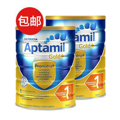 【澳洲RY药房】【一件包邮】Aptamil 爱他美 金装1段婴幼儿奶粉 900g X2