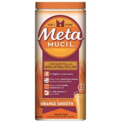 【澳洲RY药房】Metamucil 车前子膳食纤维润肠通便防便秘控胆固醇粉鲜橙味 72次量 425g