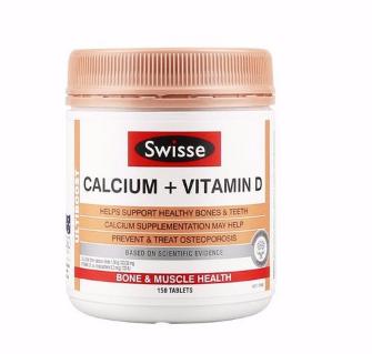 【满89纽免邮】Swisse 钙片+维生素D片 补钙补维生素 150粒