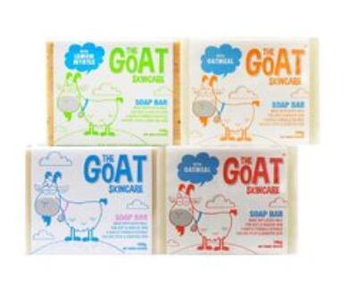 【澳洲RY药房】The Goat Soap 纯天然手工皂羊奶皂 原味 100g+柠檬味 100g+燕麦味 100g+麦卢卡蜂蜜味100g