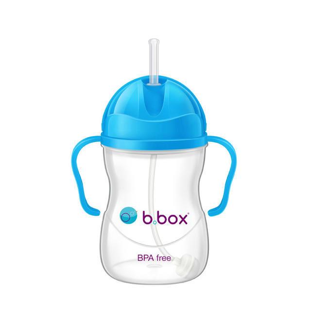 【澳洲Amcal】【限时特价】B.box 婴幼儿重力球吸管杯 防漏 240ml 钴蓝色(6个月以上)