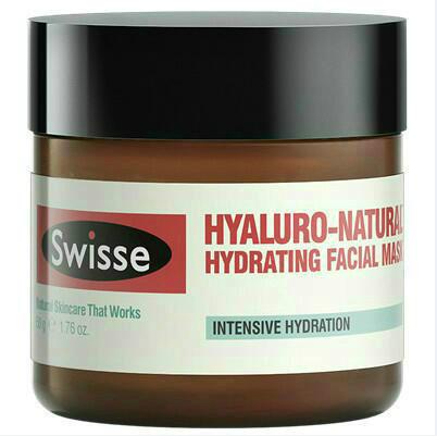 【新西兰PD】【三件免邮】Swisse 透明质酸天然保湿面膜 50ml