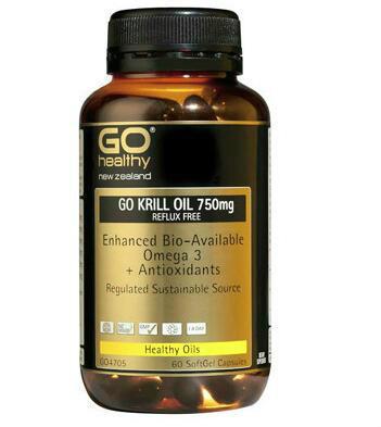【新西兰PD】【凑单品】GO Healthy 高之源 750mg 虾磷油胶囊 60粒