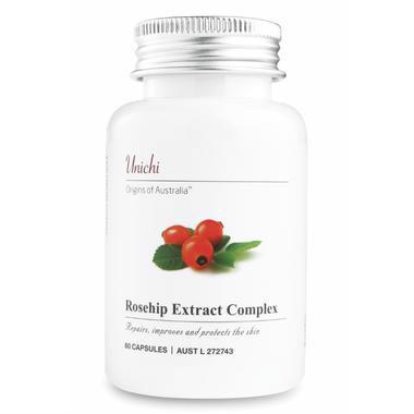 【澳洲PO药房】Unichi 玫瑰果精华胶囊 60粒 美白/修复/抗黑色素