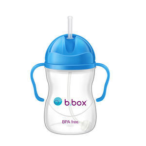 【香港直邮】B.box 婴幼儿重力球吸管杯 防漏 240ml 湖蓝色 (6个月以上)