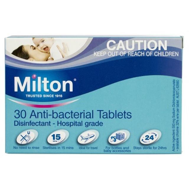 【澳洲Amcal】【买三免一】Milton 婴幼儿餐具玩具洗护泡腾消毒片 30片