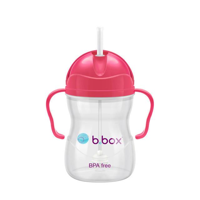 【澳洲Amcal】【经典款】B.box 婴幼儿重力球吸管杯 防漏 240ml 莓红色 (6个月以上)
