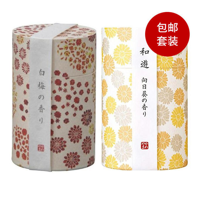 【多庆屋】【免邮】龟山和遊系列线香 向日葵香味约90g+白梅香味 约90g