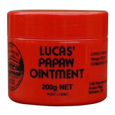 【澳洲PO药房】Lucas&#039 Papaw Ointment 番木瓜膏 200g(止痒烫伤)